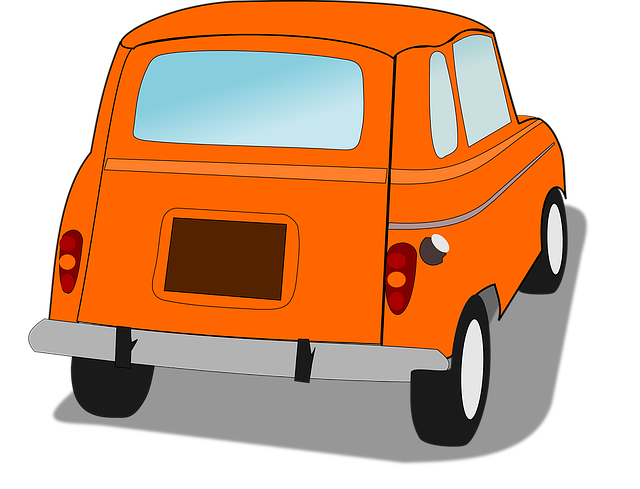 Car, French Car, Orange Car, Renault 4, Transportation