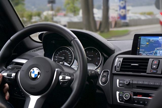 Car, Driving, Route, Interior, Navigation, Tachometer