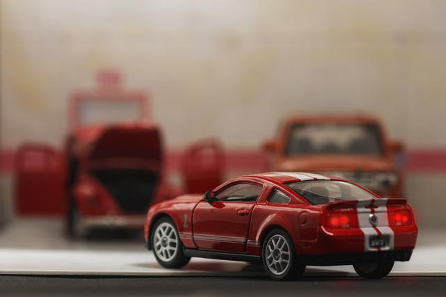 Escala1 32, Toy, Miniature, Car, Red, Mustangs