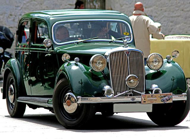 Spain, Car, Antique, Rover, Green, Rally, Car Show