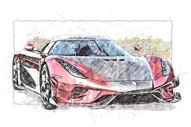 Car, Automobile, Sketch