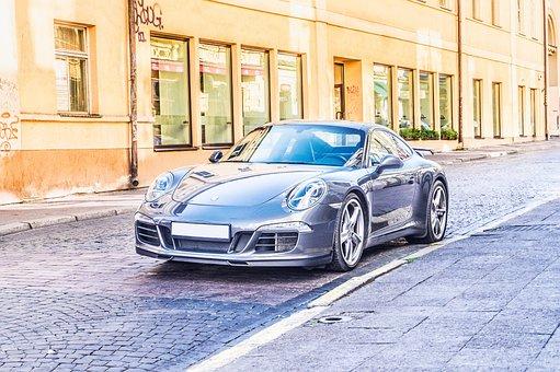 Blue, Sports Car, City, Car, Sportscar, Fast, Street