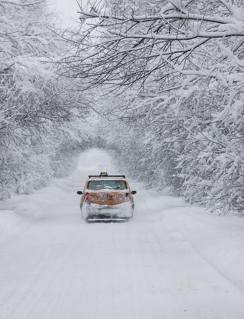 Snow, White, Car, Winter