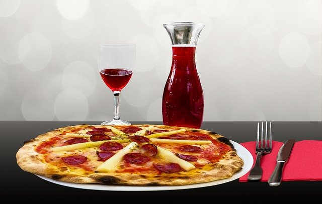 Eat, Drink, Restaurant, Pizza, Wine, Wine Glass, Carafe