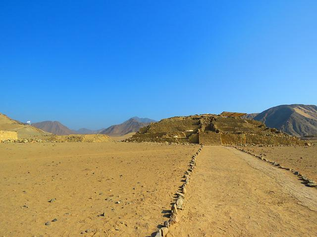 Landscape, Desert, Caral, Peru, Pyramid, Vista, Sand