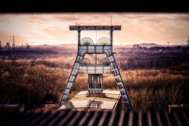 Bill, Headframe, Ruhr Area, Carbon, Mining, Mine