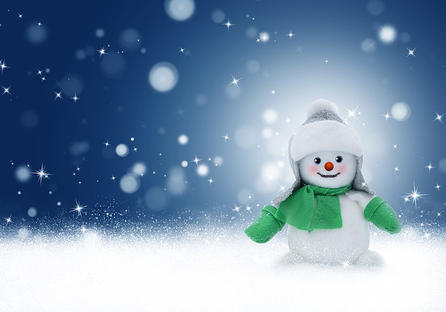 Snowman, Snow, Winter, Christmas, Background, Card
