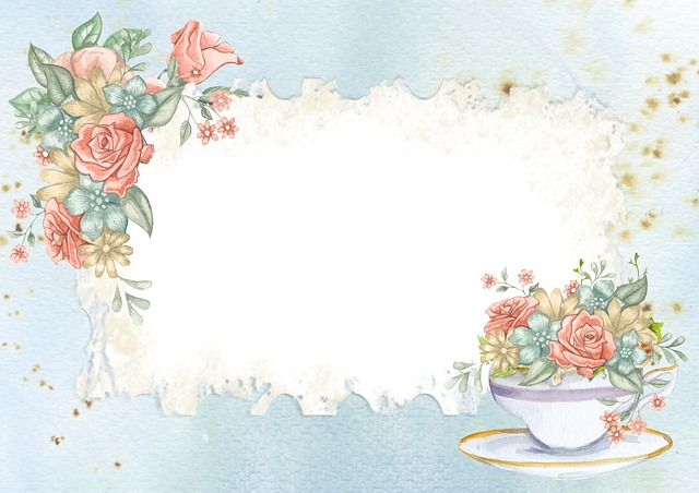 Free Photo Bouquet Background Frame Vintage Roses Flower
