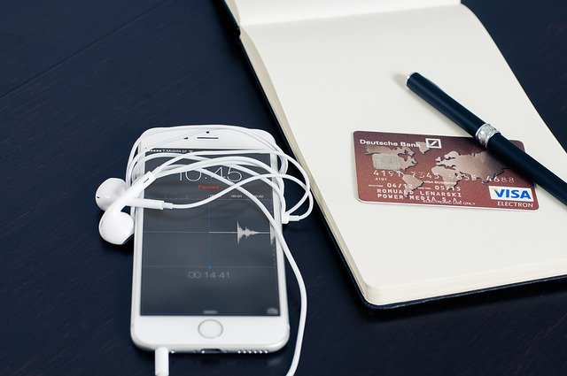 Iphone, Visa, Business, Buying, Card, Cellphone