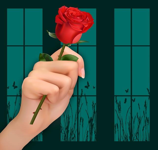 Hand, Rosa, Reason, Design, Card, Color, Texture