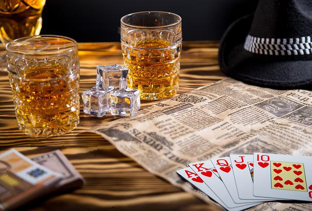 Glass, Table, Background, Cards, Full House, Money