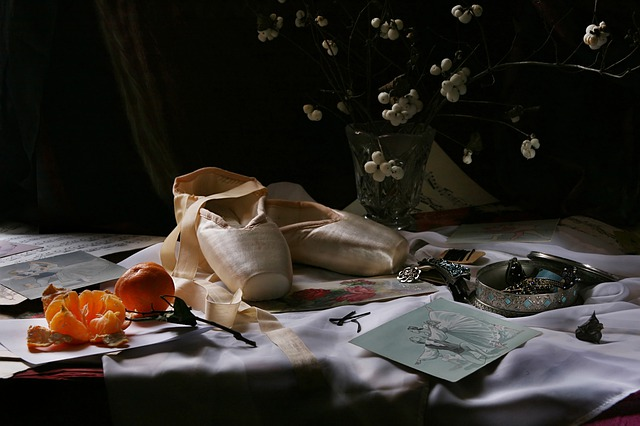 Still Life With Pointe Shoes, Ballet, Cards, Ornament