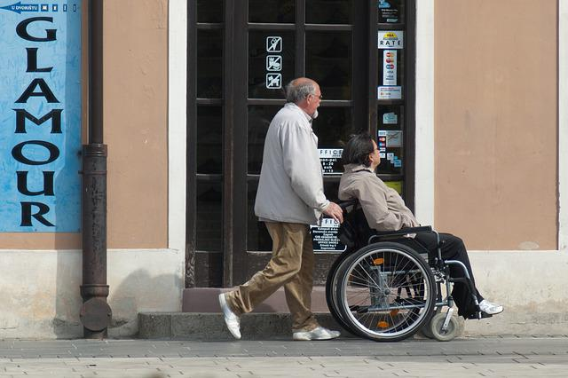 Wheelchair, Care, Disabled, People, Woman, Senior Care