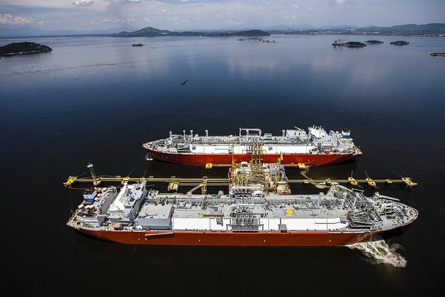 Gas, Tanker, Bay, Cargo, Shipping, Water, Landscape