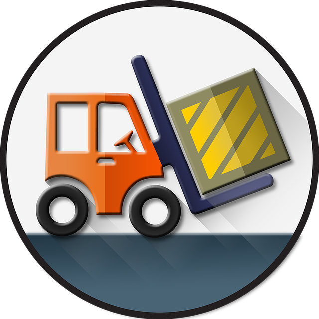 Computer, Management, Logistic, Icon, Vector, Cargo