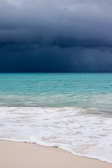 Beach, Blue, Caribbean, Clouds, Cloudscape, Danger