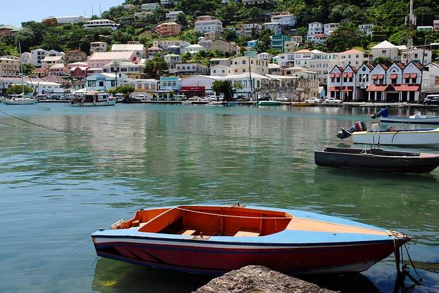 Caribbean, Island, Tropical, Harbor, Seaport, Town