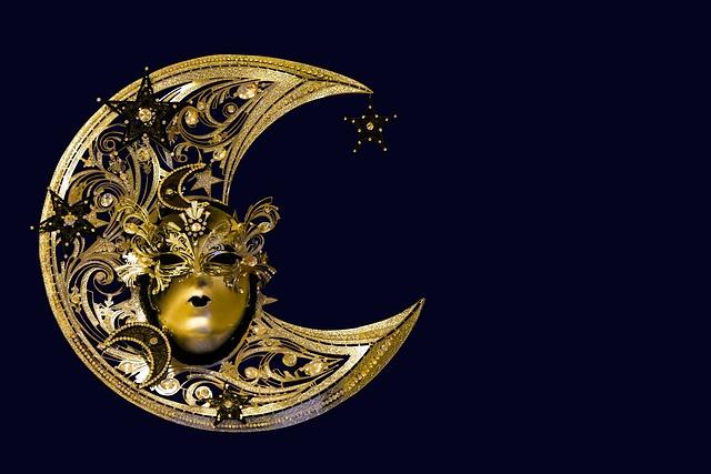 Background, Pattern, Carneval, Carnival, Mask, Golden