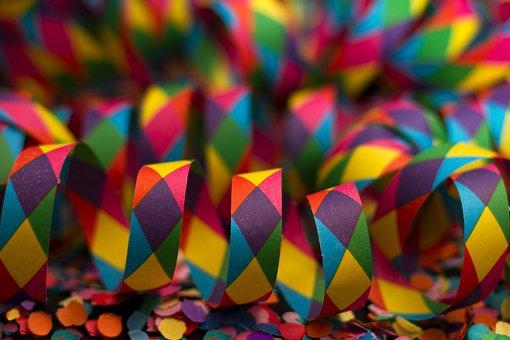 Streamer, Carnival, Colorful, Color, Background