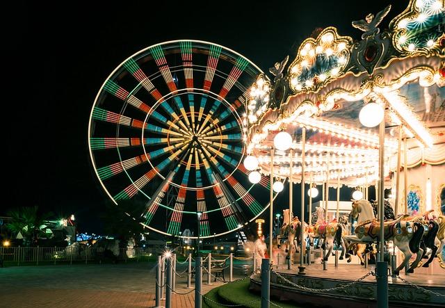 Carnival, Carousel, Ferris Wheel, Merry-go-round