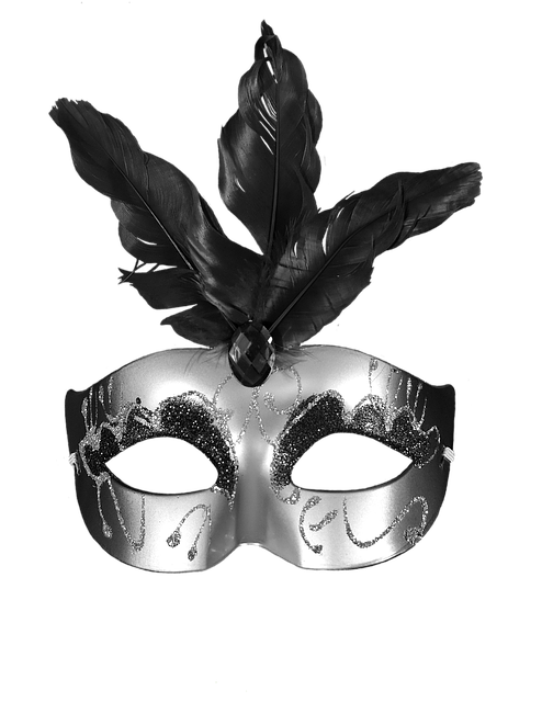 Carnival, Black, Mask, Masquerade, Party, Colorful