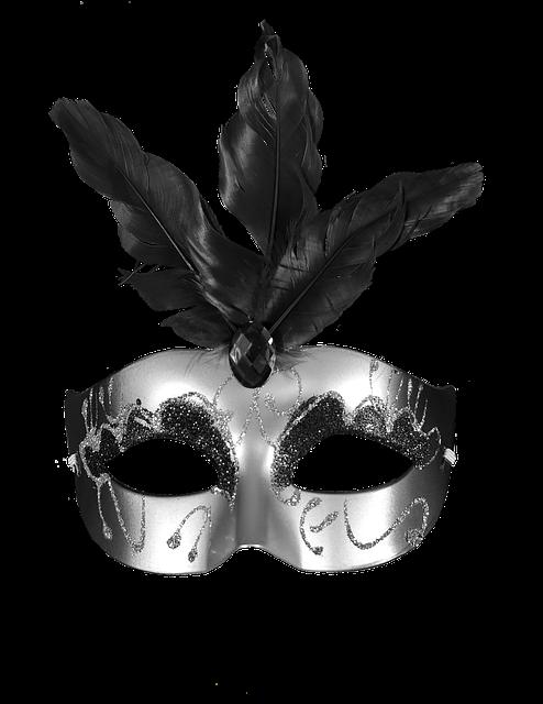 Carnival, Black, Mask, Masquerade, Party, Colorful