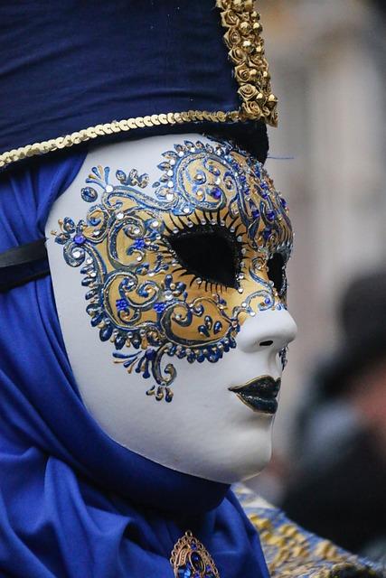 Carnival, Mask, Bruges, Portrait, Festival, Blue