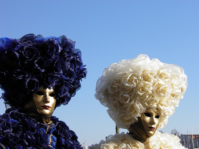 Venice, Italy, Carnival, Mask, Couple, Disguise