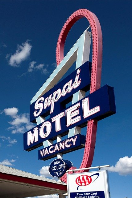 Motel, Shield, Advertising Sign, Carol M Highsmith
