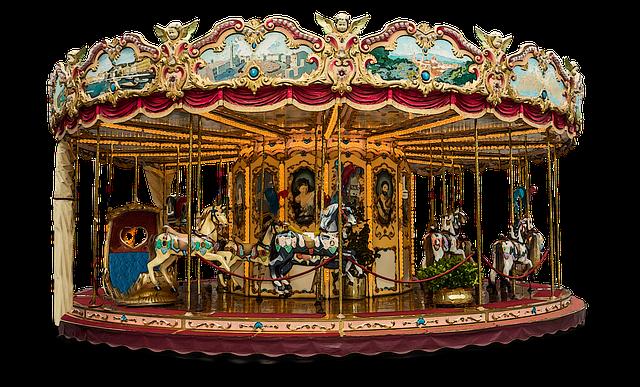 Carousel, Merry Go Round, Fun, Ride, Amusement, Park