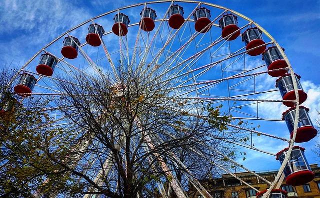 Sky, Carousel, Carnival, Ferris Wheel, Entertainment