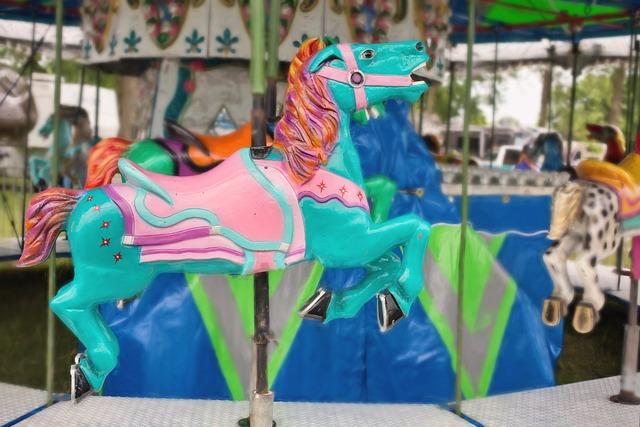 Carousel Horse, Carousel, Amusement, Park, Ride, Horse