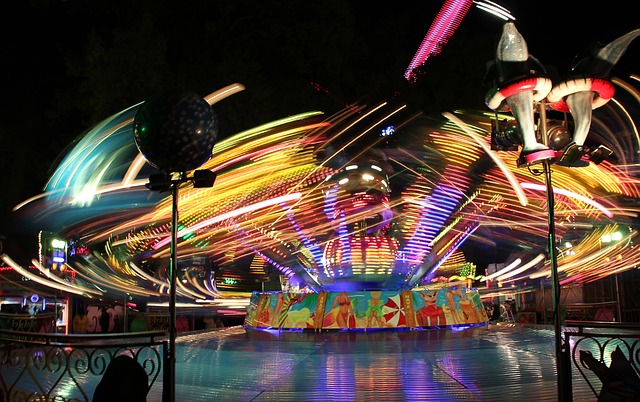 Funfair, Party, Evening, Carousel, Entertainment