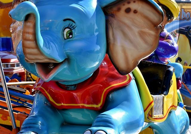 Carousel, Ride, Elephant, Colorful, Year Market