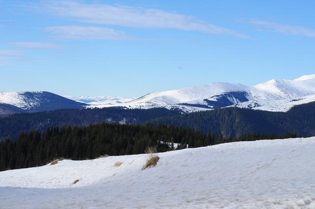 Ranca, Snow, Romania, Carpathians, Mountains, Sky