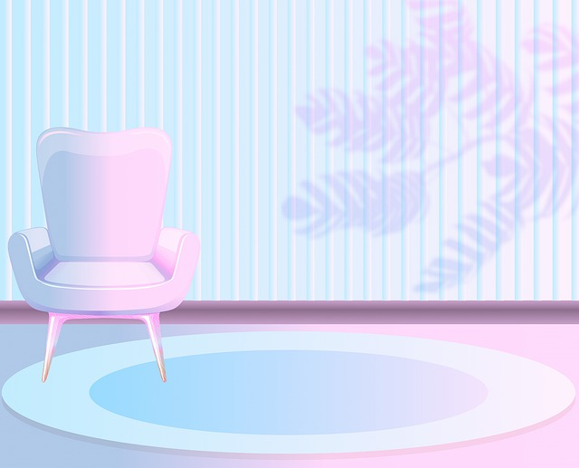 Pink And Blue Room, Chair, Shadow, Room, Rug, Carpet