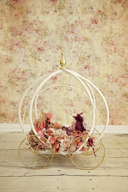 Carriage, Baby, Princess, Newborn, Digital Backdrop