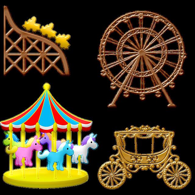 Carousel, Fair, Amusement Park, Ferris Wheel, Carriage