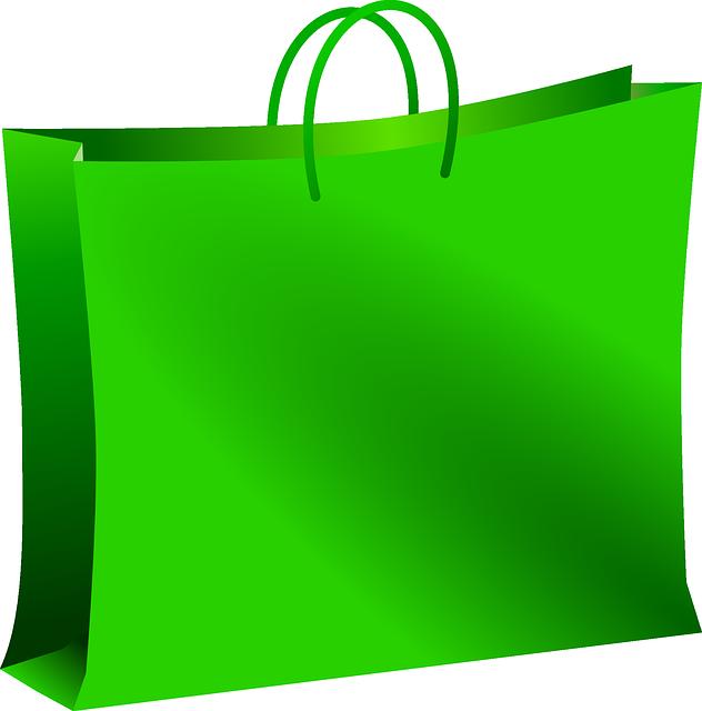 Bag, Green, Mall, Shopping, Carryout Bag, Carrier Bag