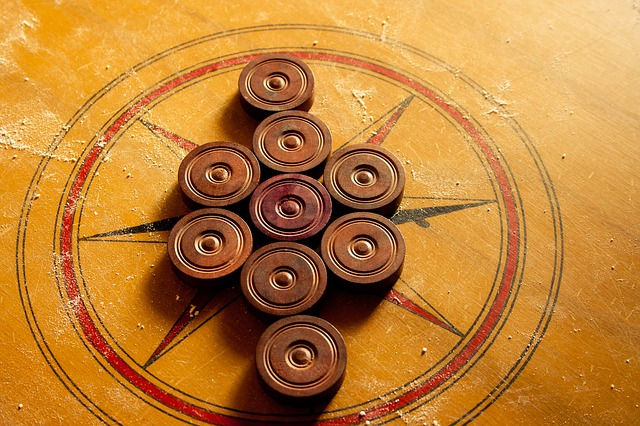 Carrom, Karrom, Table Game, Game, Pieces, Coins