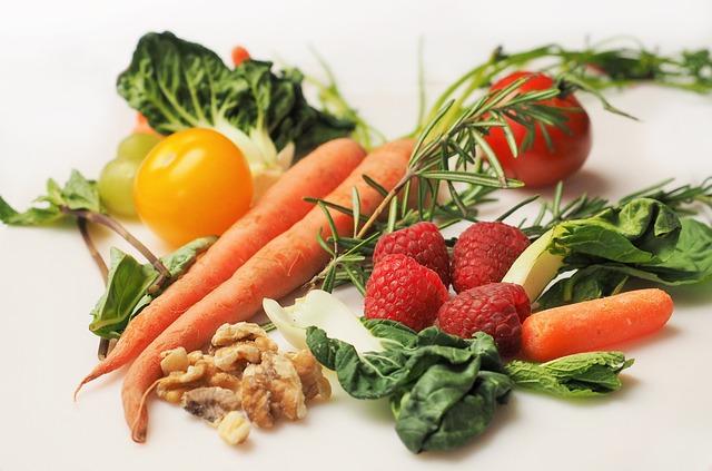 Carrot, Kale, Walnuts, Tomatoes, Vegetable, Food