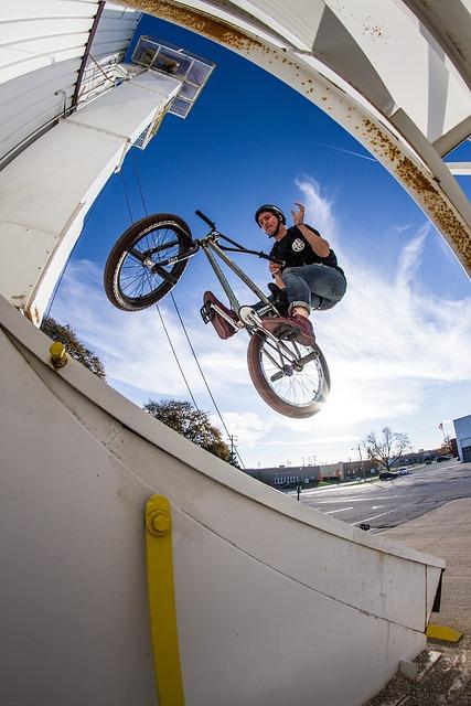 Bikes, Sky, Bmx, Outside, Person, Sun, Carry, Sport