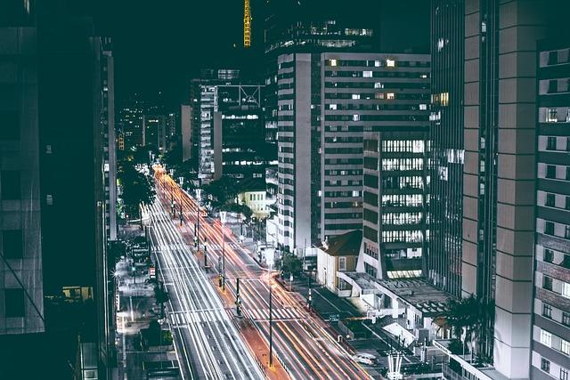 Cars, Road, Traffic, Night, Street, Construction