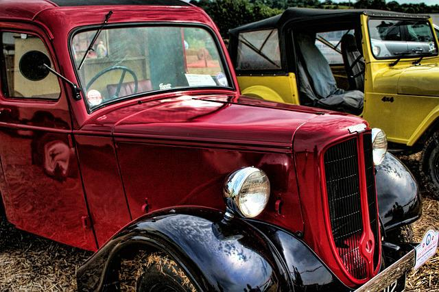 Vintage, Cars, Red, Classic, Vintage Cars, Old, Retro