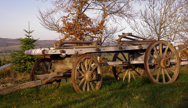France, Cart, Farmer, Agriculture
