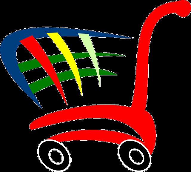 Shopping-cart, Symbol, Push, Cart, Supermarket, Retail