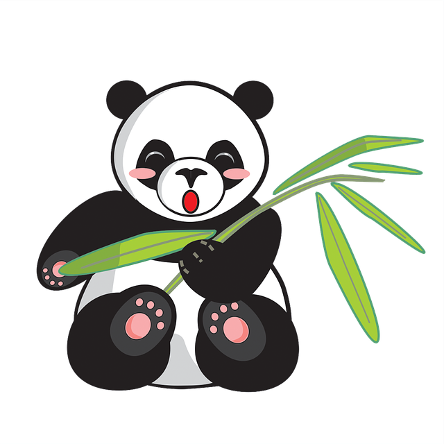Panda, Cartoon, Cute, Animal, Comics, Vector, Bamboo
