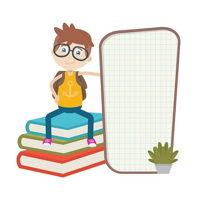 The Board, Book, Students, Clipart, Cartoon, Kids