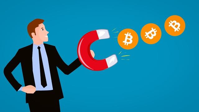 Earn, Bitcoin, Gain, Cartoon Character, Magnet