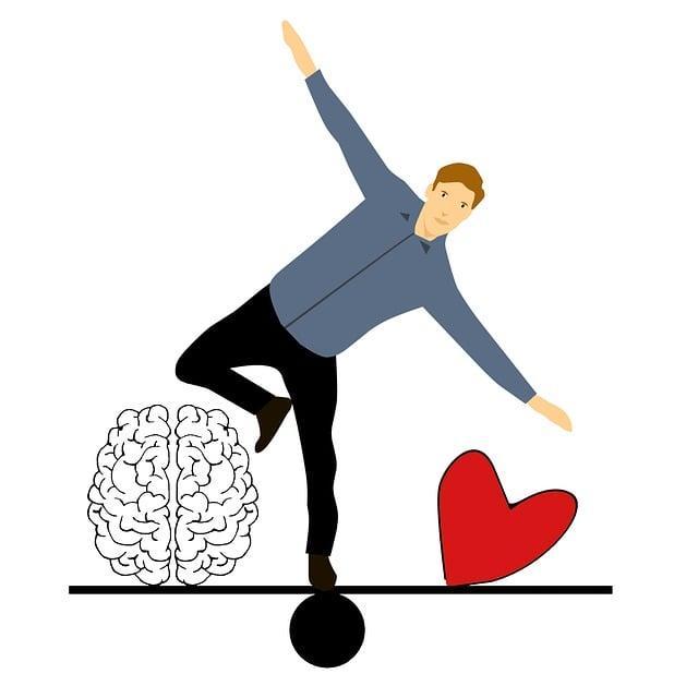 Balancing, In Love, Cartoon Character, Idea, Brain